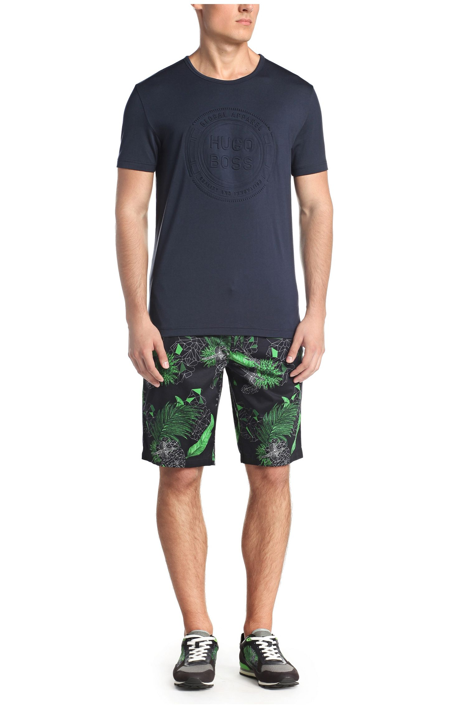 T-shirt in cotton blend: 'Tee 8'