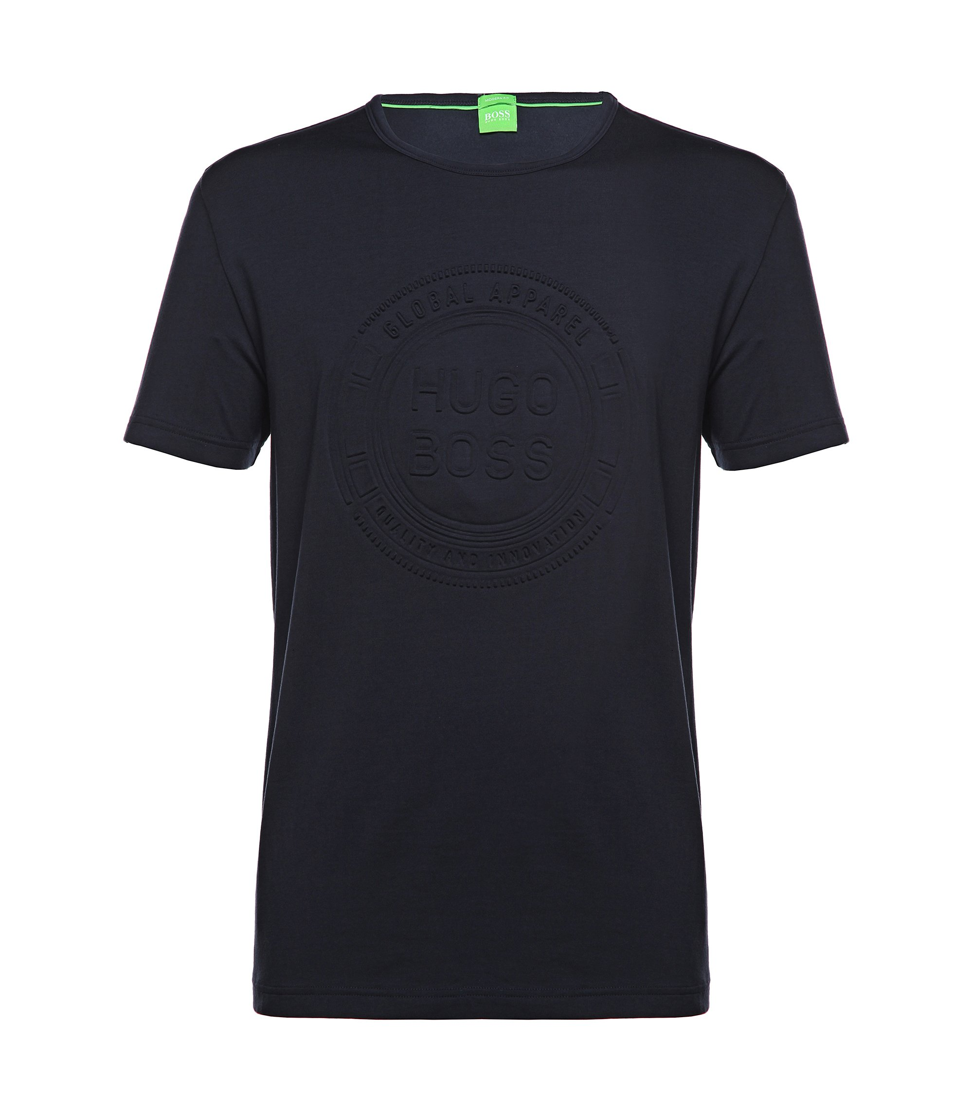 T-shirt in cotton blend: 'Tee 8', Dark Blue
