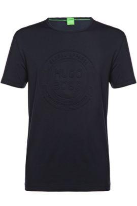 T-shirt in misto cotone: 'Tee 8', Blu scuro