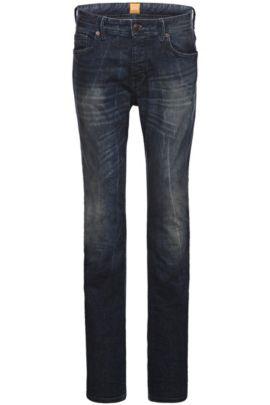 Jeans Tapered Fit en coton mélangé: «Orange90», Bleu