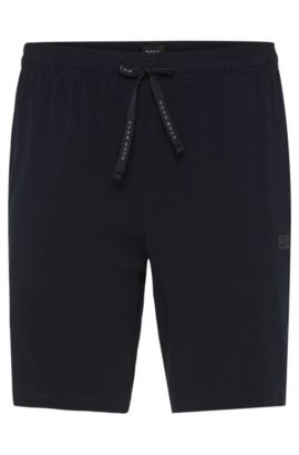Boxer en coton stretch: «Short Pant CV», Bleu foncé