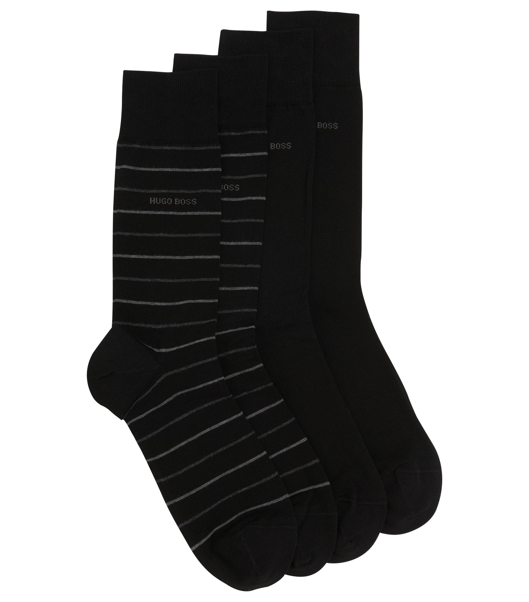 Two-pack of regular-length socks, Black