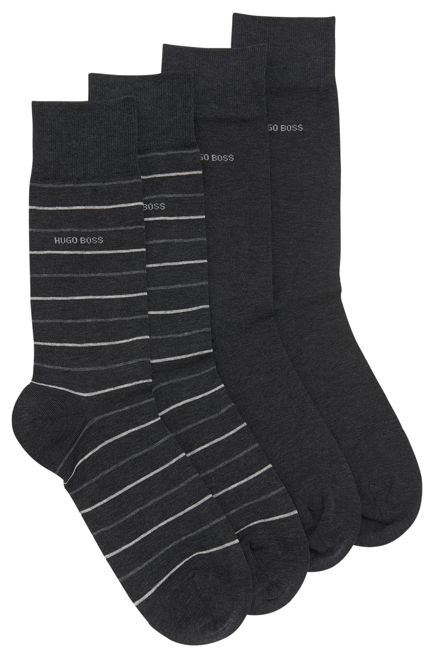 Paquete de dos pares de calcetines de largo normal