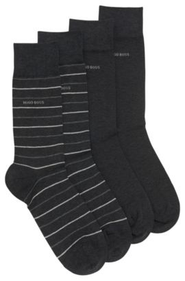 Two-pack of regular-length socks, Anthracite