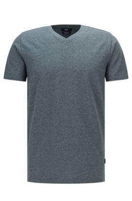 T-shirt Regular Fit en coton mercerisé, Gris
