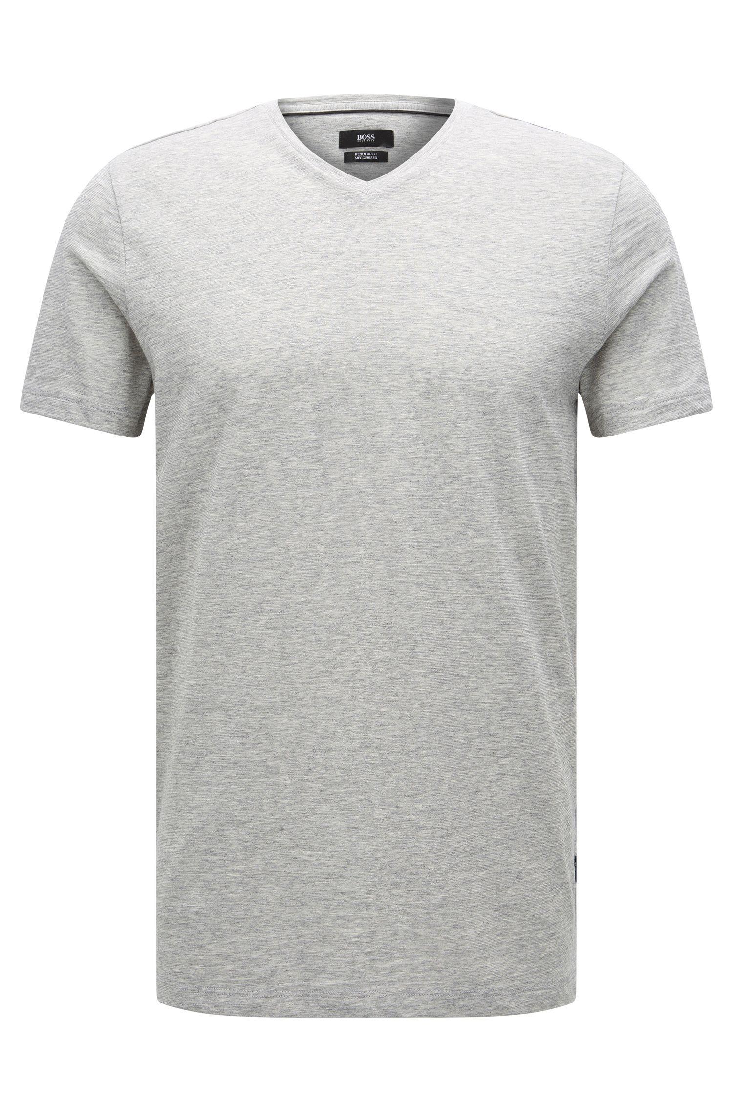 Regular-fit T-shirt in mercerised cotton