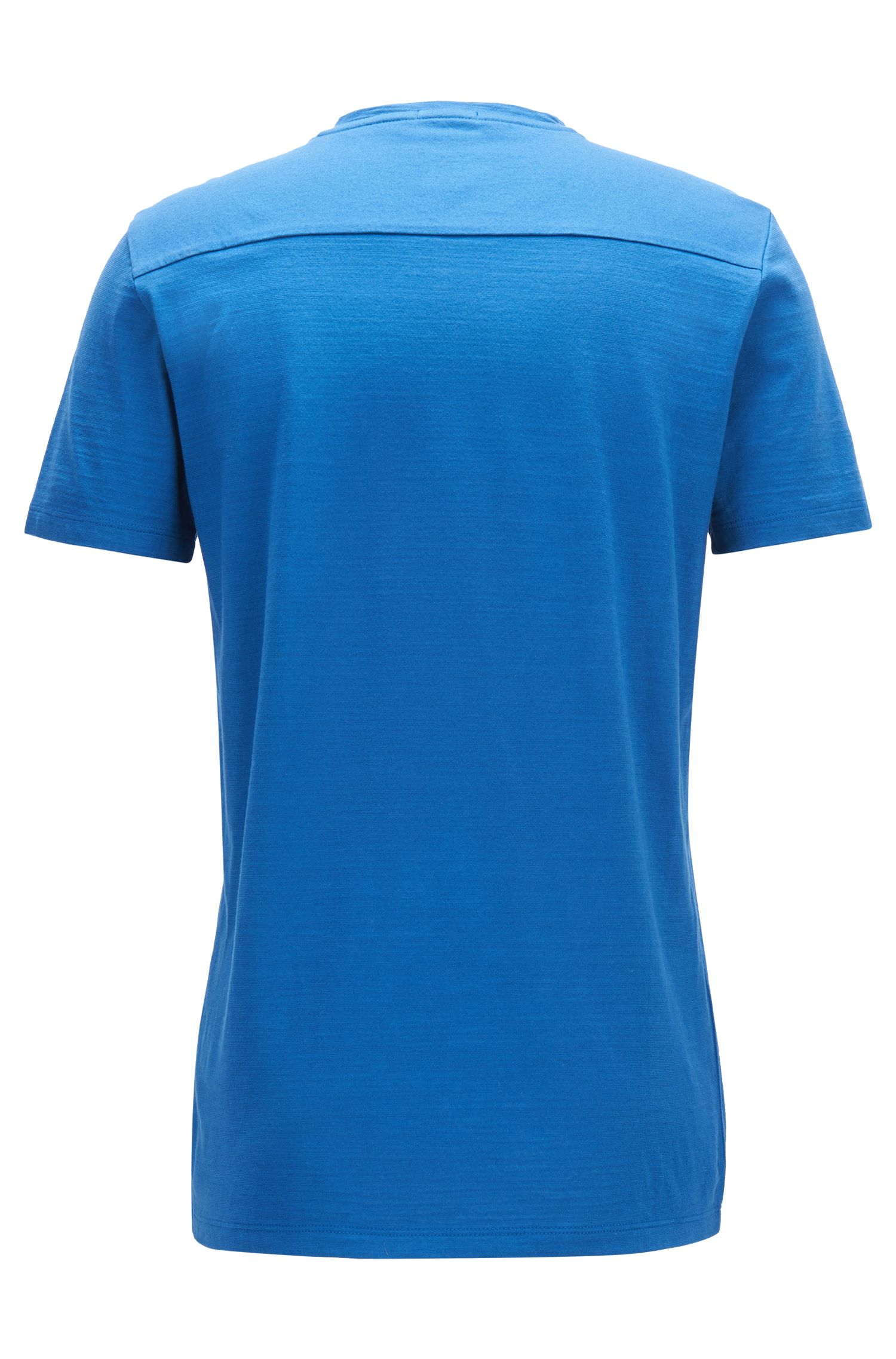 Regular-fit T-shirt in mercerised cotton