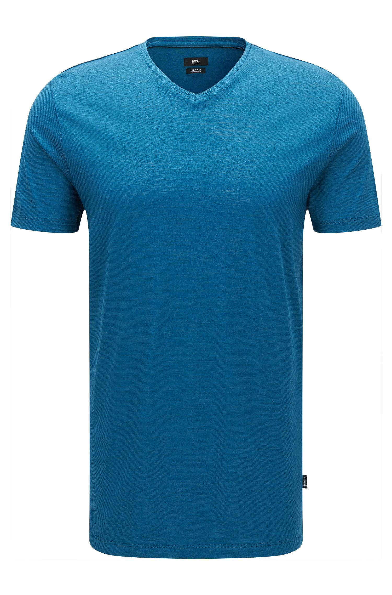 Camiseta regular fit en algodón mercerizado