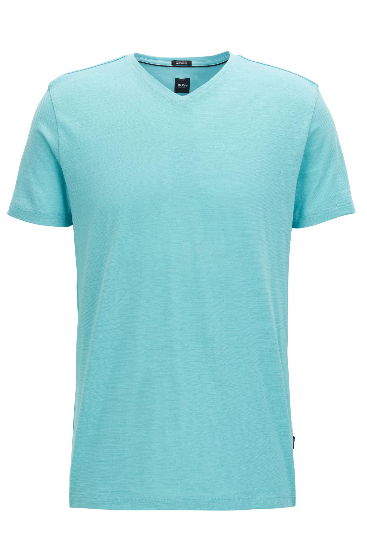 Camiseta regular fit en algodón mercerizado