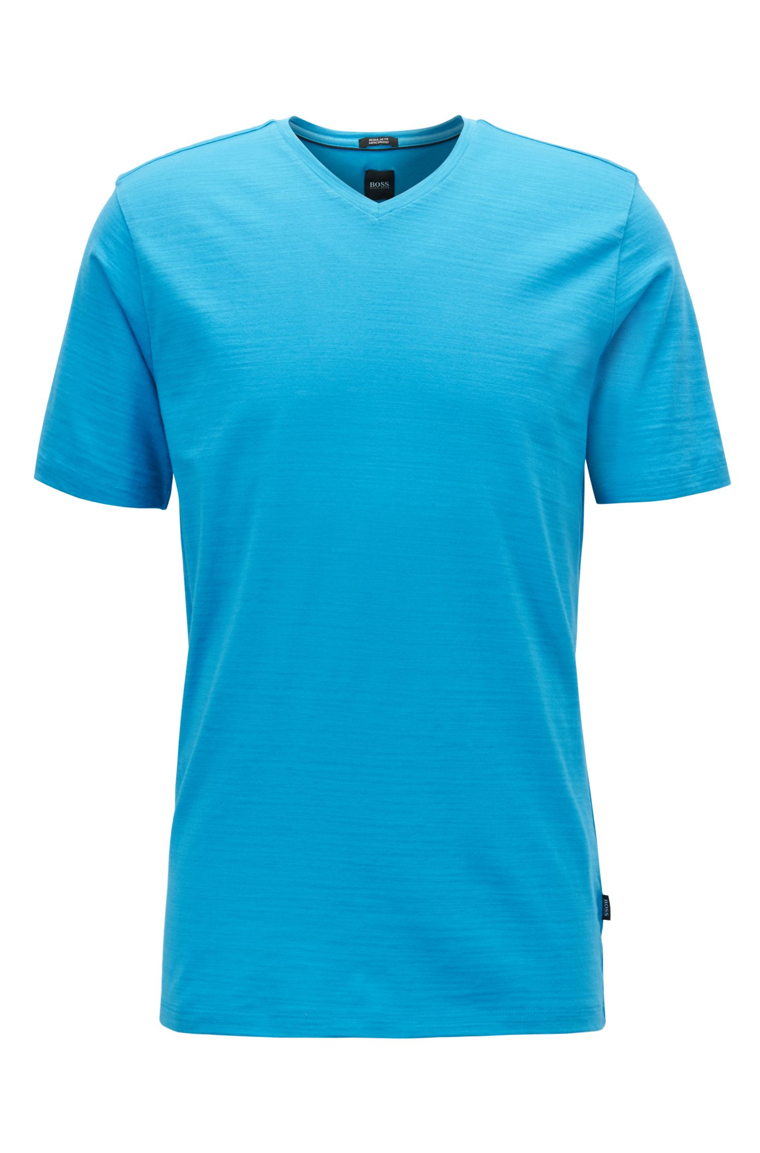 T-shirt Regular Fit en coton mercerisé, Bleu vif