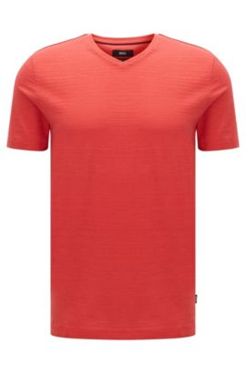 T-shirt Regular Fit en coton mercerisé, Rouge