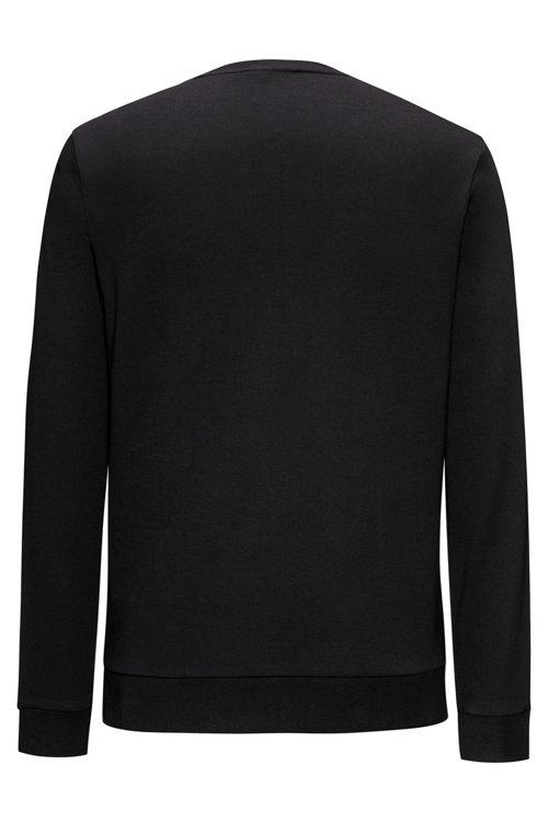 Hugo Boss - Regular-Fit Sweatshirt aus Baumwolle mit spiegelverkehrtem Logo-Print - 4