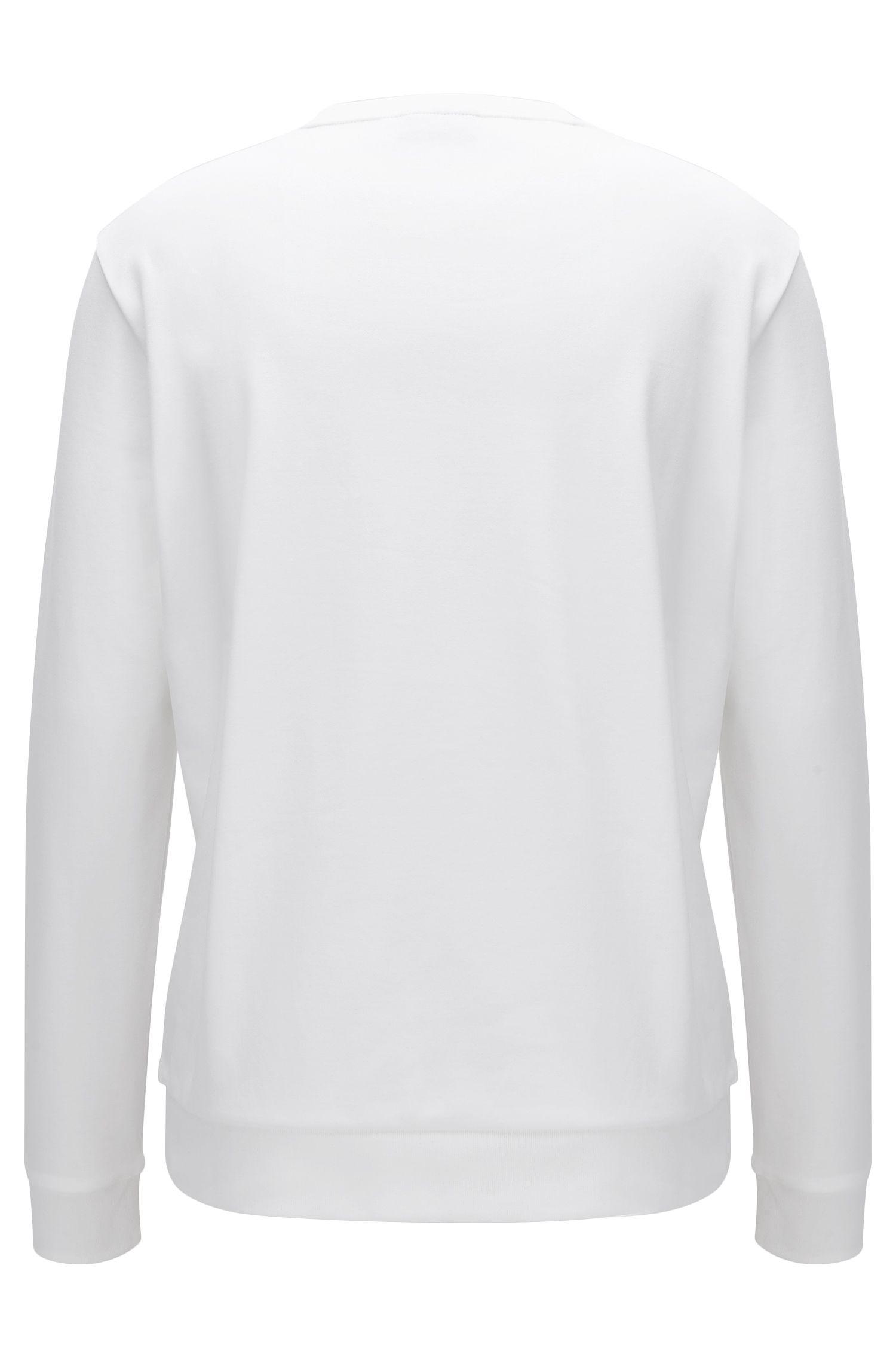 Regular-fit sweatshirt van interlocked katoen met gespiegeld logo