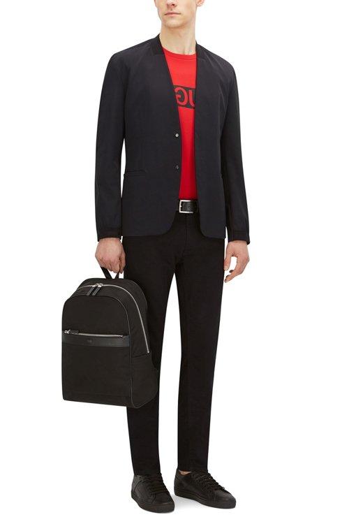 Hugo Boss - Regular-Fit Sweatshirt aus Baumwolle mit spiegelverkehrtem Logo-Print - 2