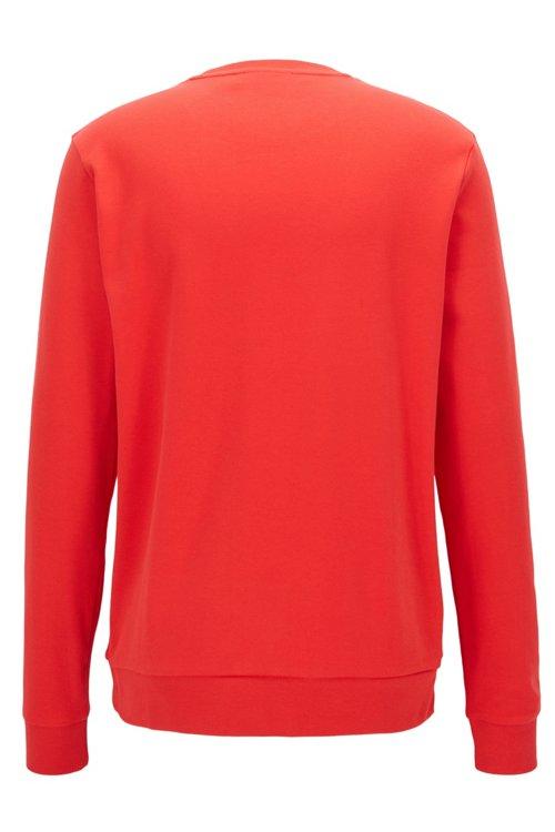 Hugo Boss - Regular-Fit Sweatshirt aus Baumwolle mit spiegelverkehrtem Logo-Print - 3