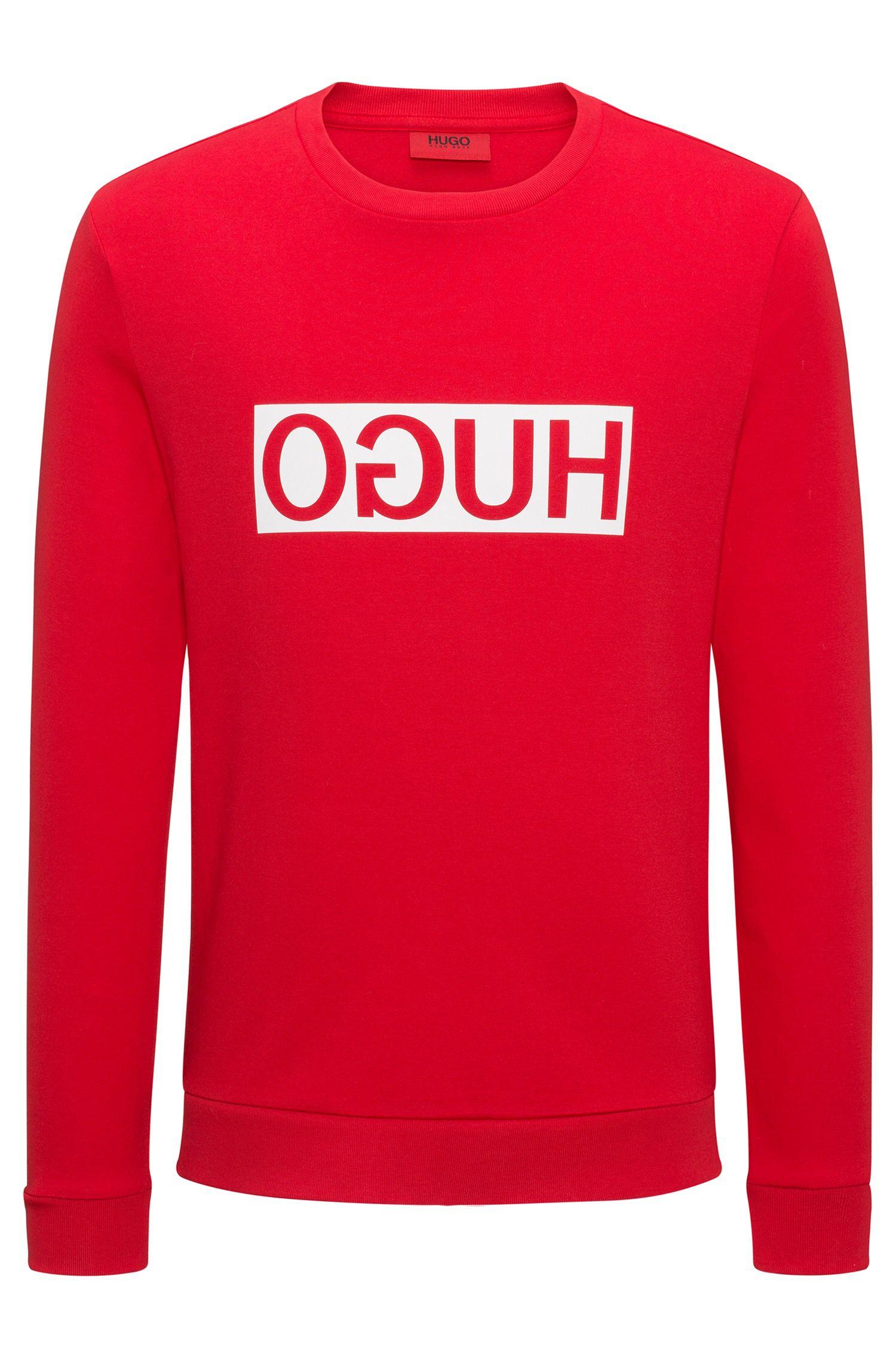 Sweat Regular Fit en coton interlock à logo inversé