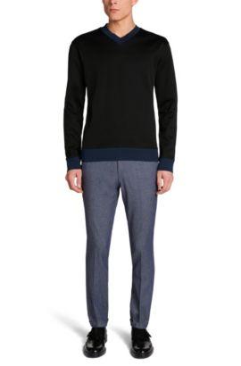 Loose-Fit Pullover aus Baumwolle: 'Dipswich', Schwarz