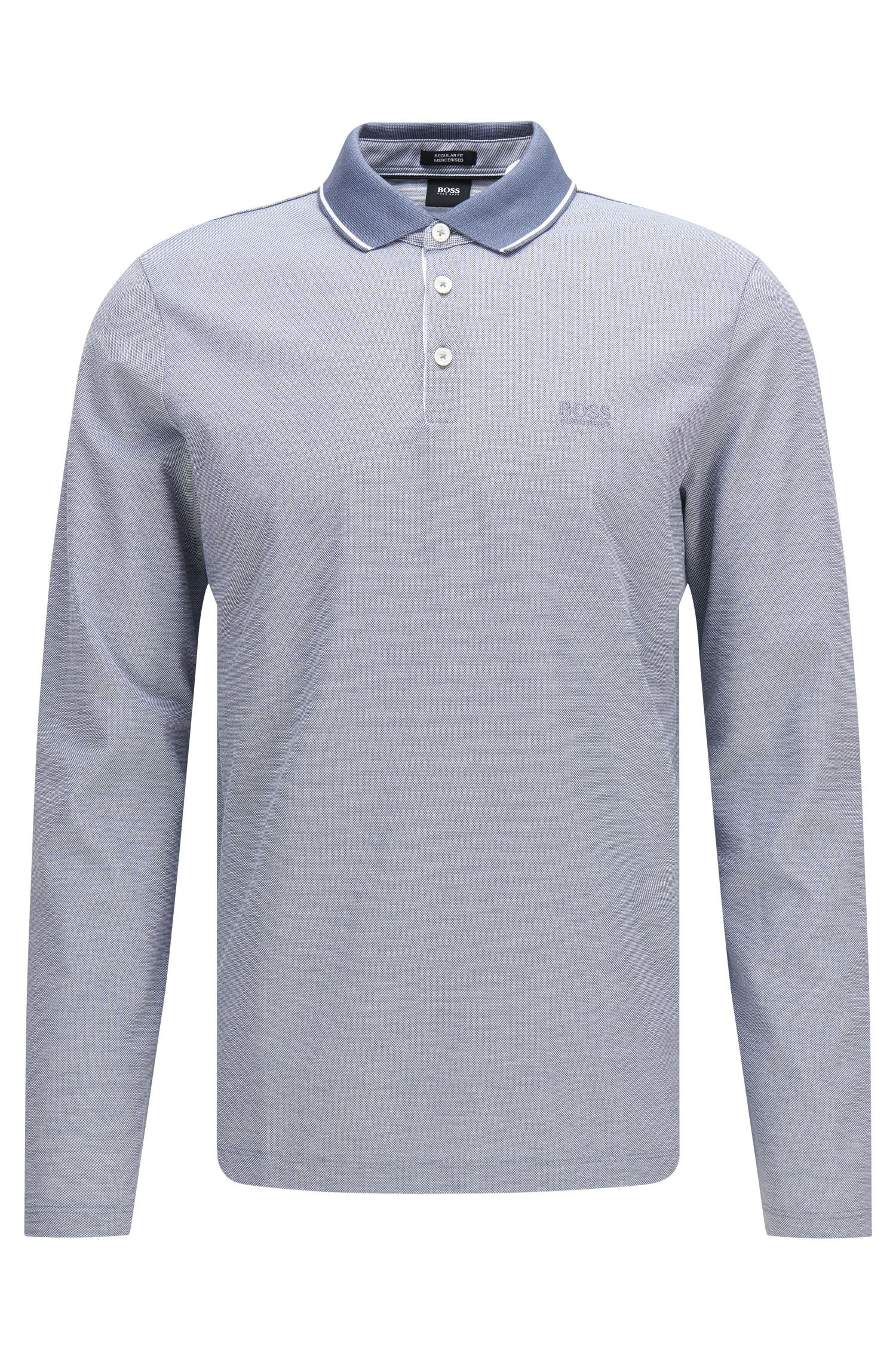 Polo à manches longues Regular Fit en coton : « Pearl 03 »