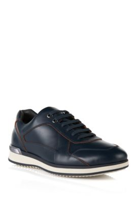 Leather trainers: 'Hersneo', Dark Blue