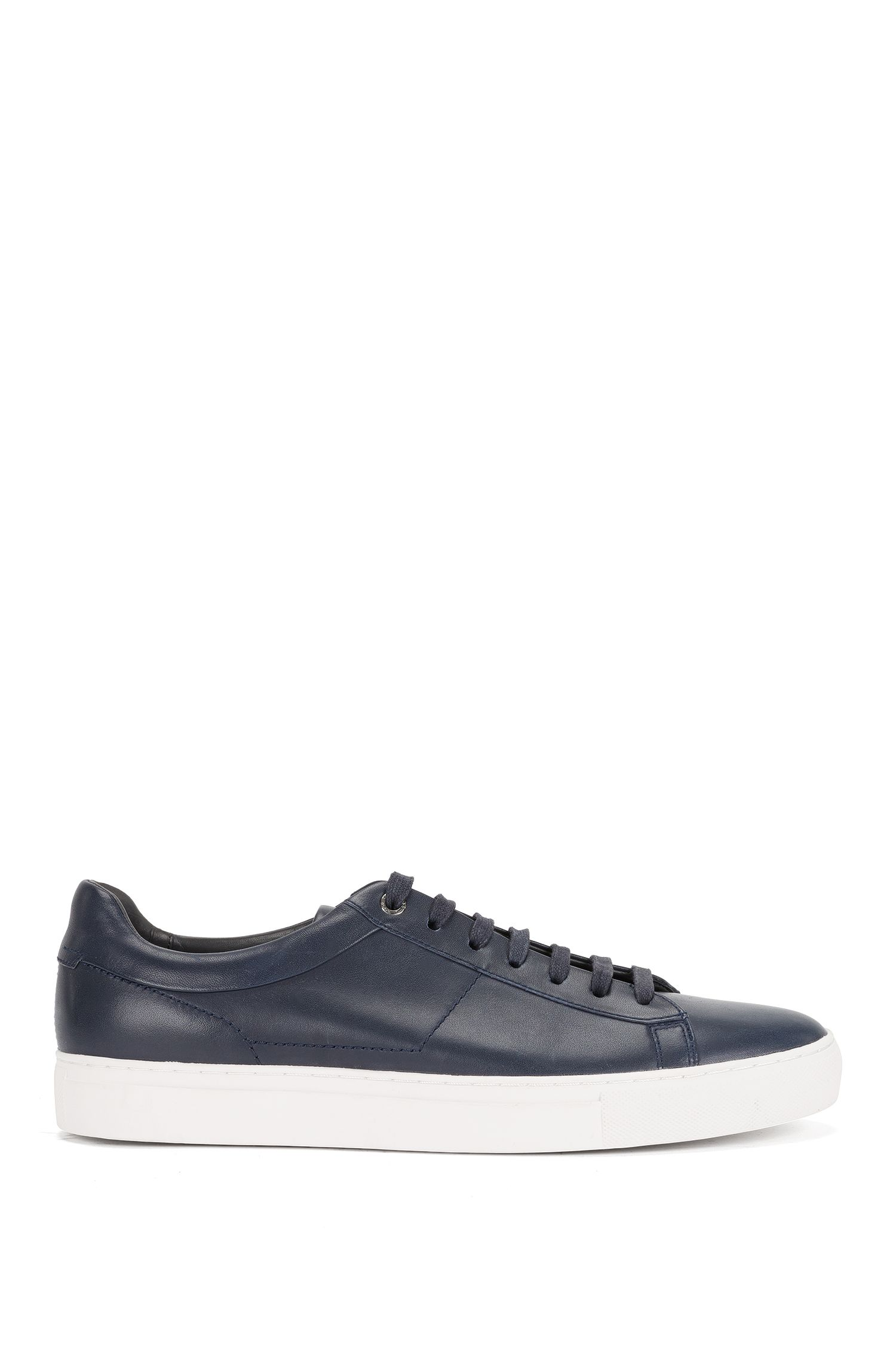 Plain-coloured leather trainers: 'Timaker'