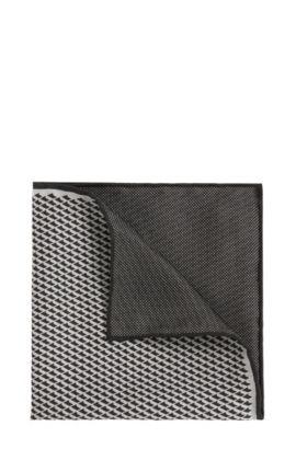 Einstecktuch aus Seide im Muster-Mix: 'T-Pocket sq. Cm33x33', Schwarz