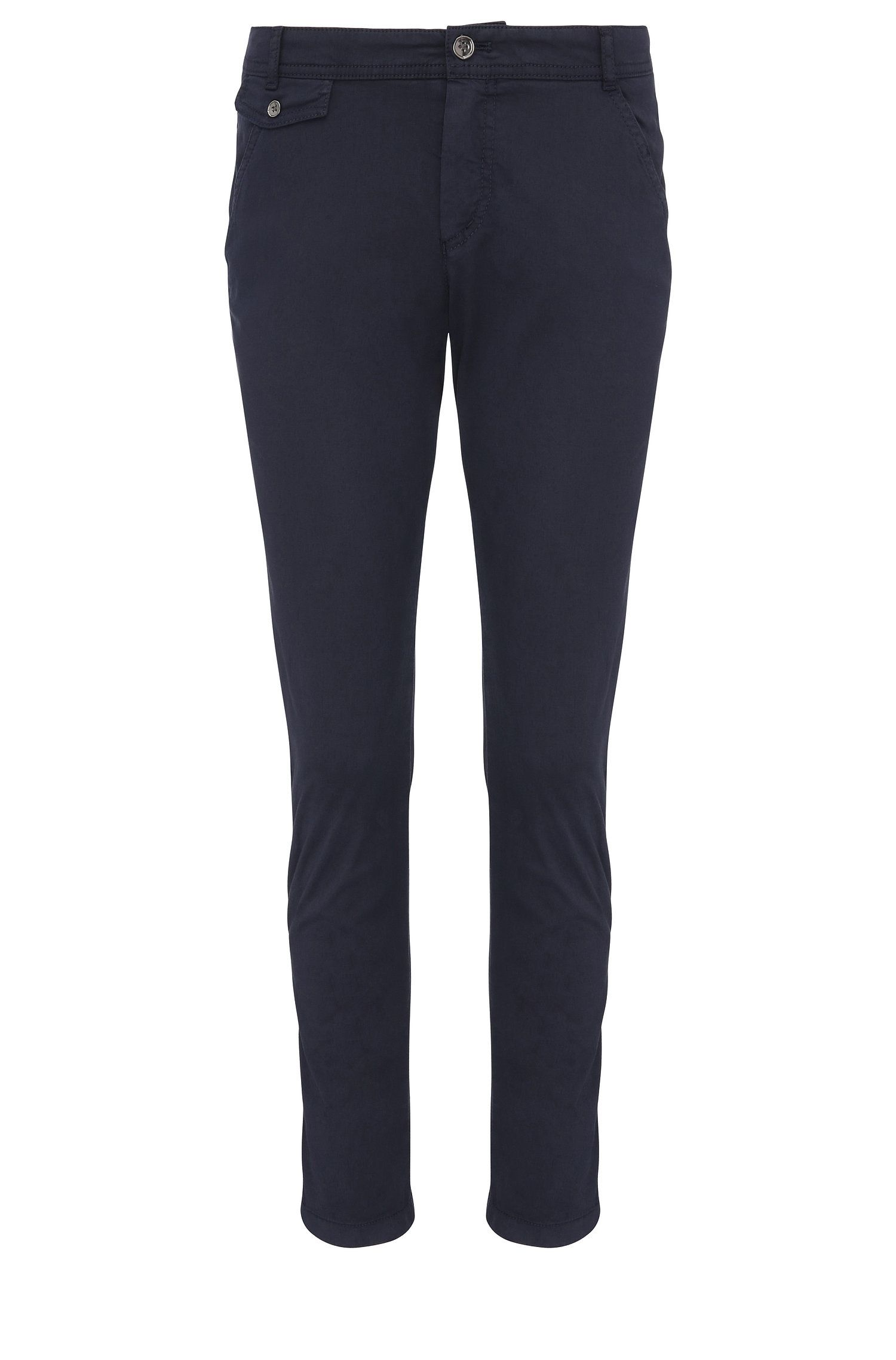 Relaxed-fit chino van stretchkatoen: 'Sochini1-D'