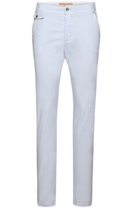 Chino Relaxed Fit en coton stretch : « Sochini1-D », Bleu vif