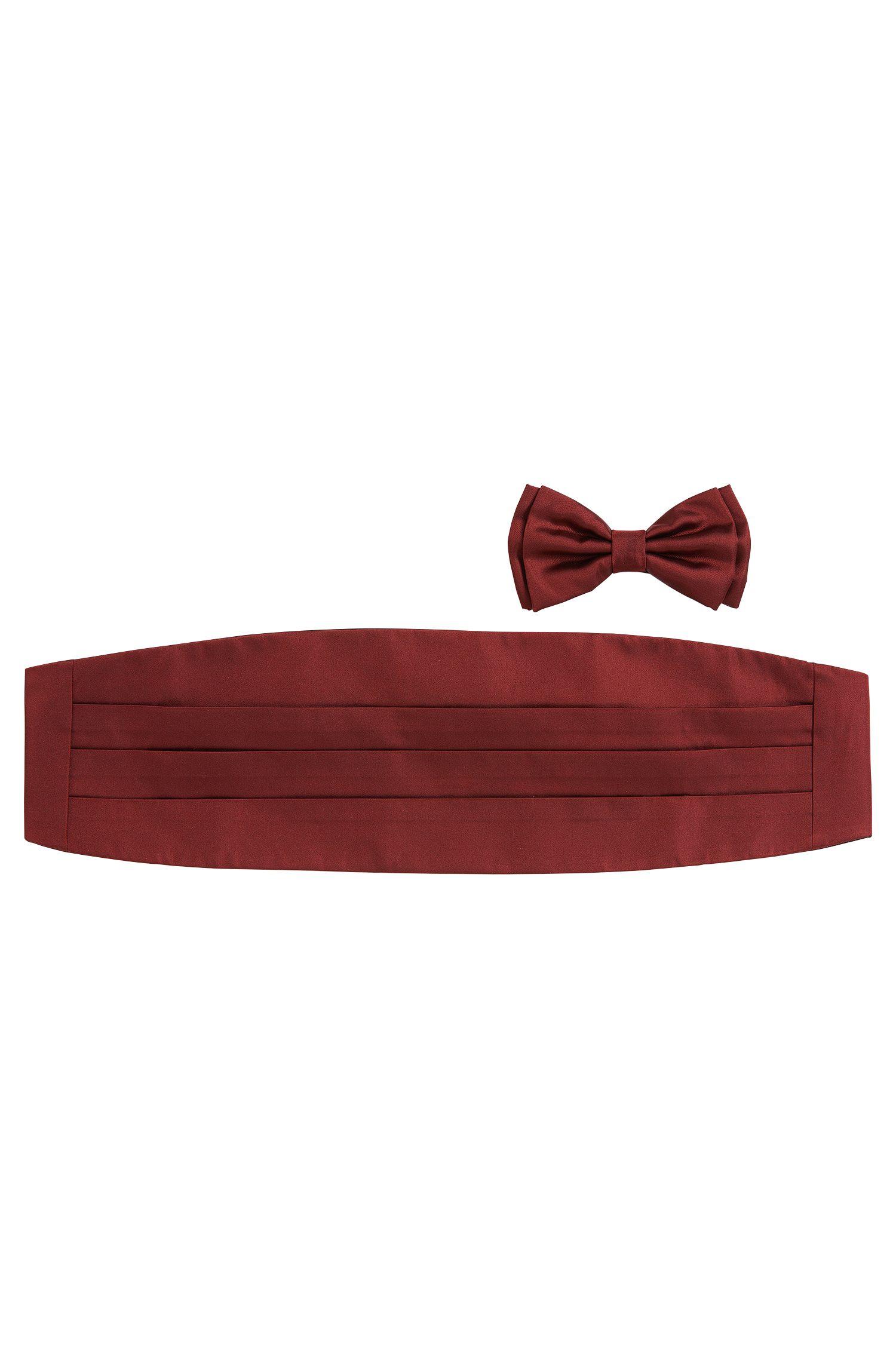 Ensemble composé d'un nœud papillon et d'un cummerbund en soie: «Set bow tie + cummerbund»