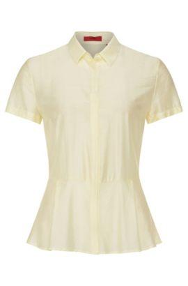Bluse aus Modal mit Seiden-Anteil: 'Etenel', Hellgelb