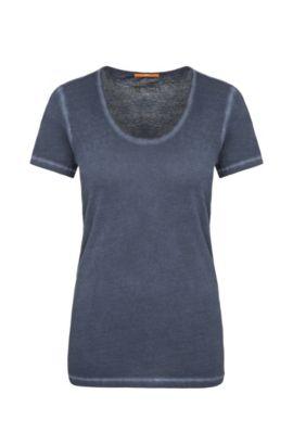 T-shirt van zuiver katoen: 'Tahiras', Donkerblauw