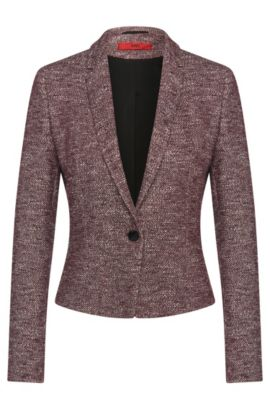 Regular-fit cotton blend blazer: 'Adiasa', Purple