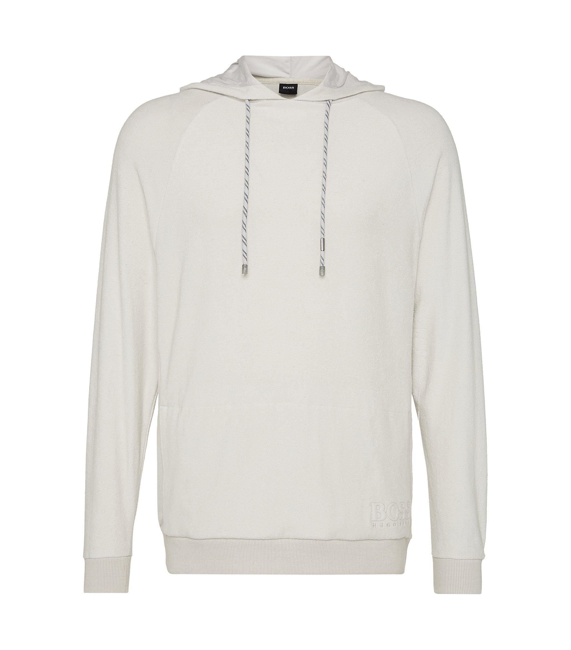 Sweatshirt aus Baumwolle: 'Shirt Hooded LS', Hellgrau