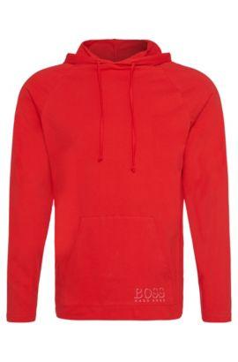 Kapuzen-Longsleeve aus Baumwolle: 'Shirt Hooded LS', Rot
