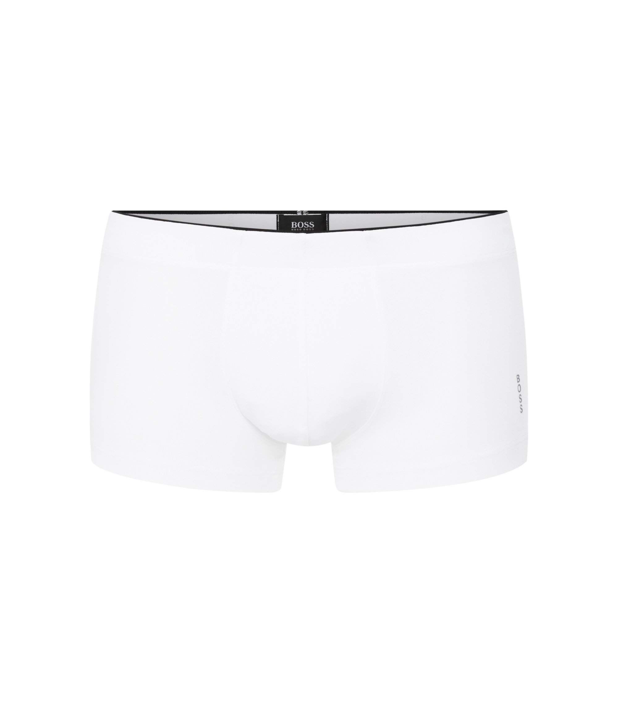 Regular-rise boxer briefs in premium microfibre , White