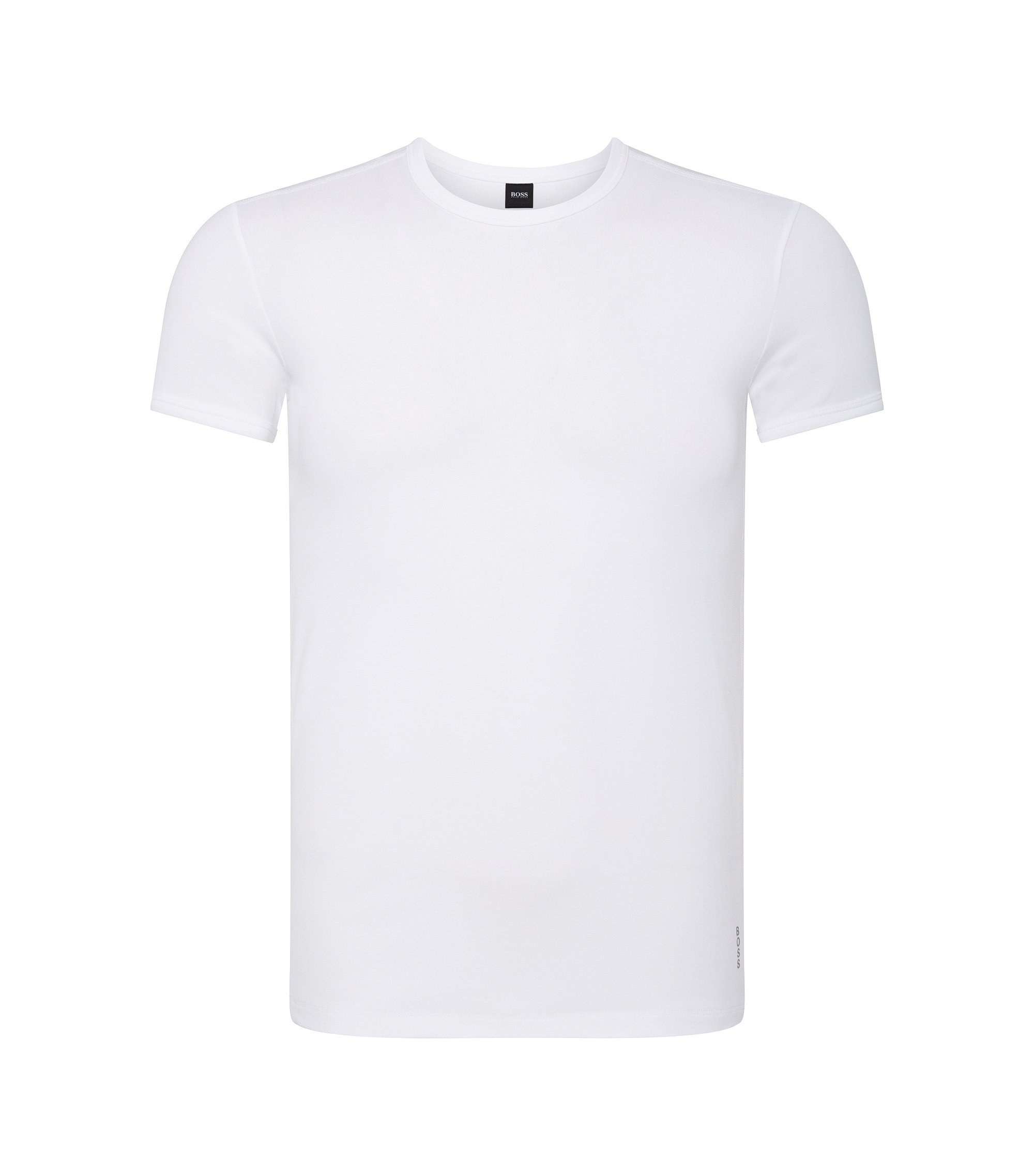 Slim-fit T-shirt van microvezels met stretch, Wit