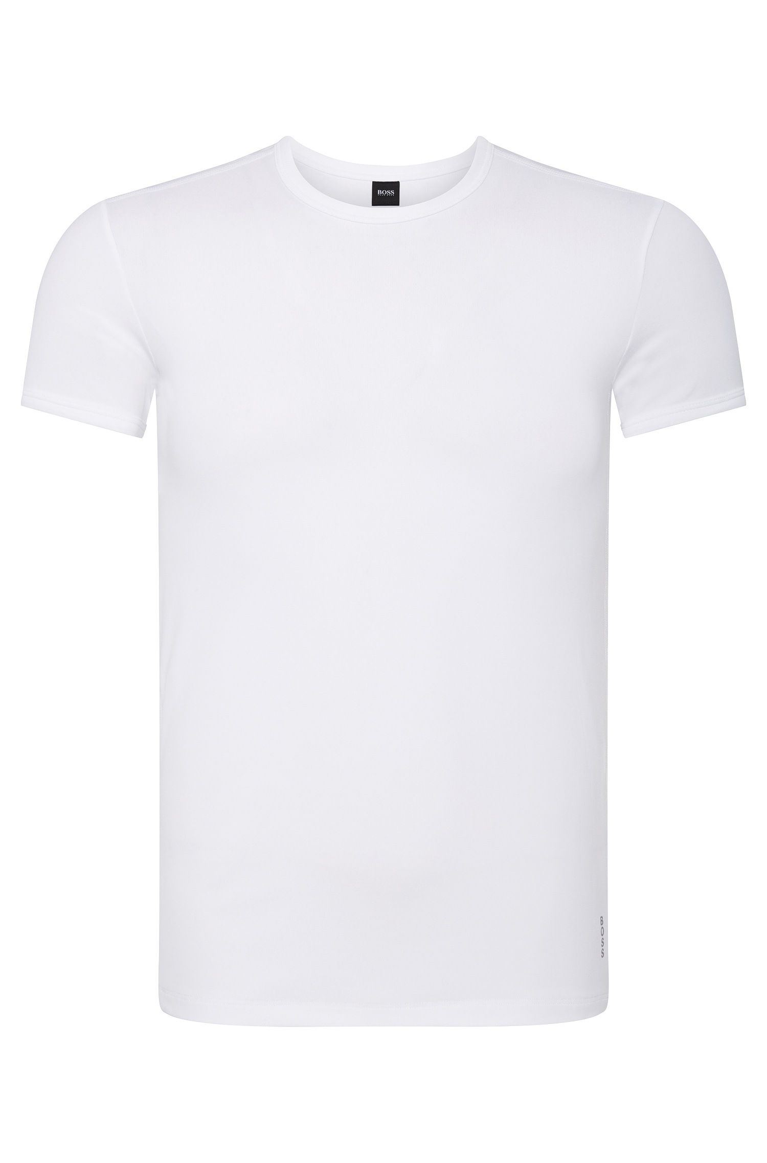Slim-fit T-shirt in stretch microfibre, White