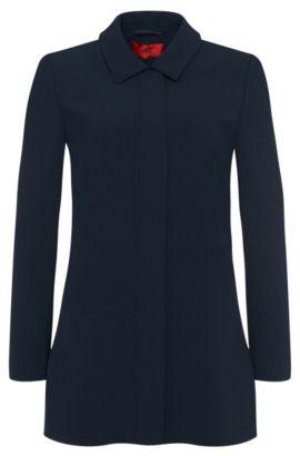 Leicht ausgestellter Mantel: 'Fyone', Hellblau