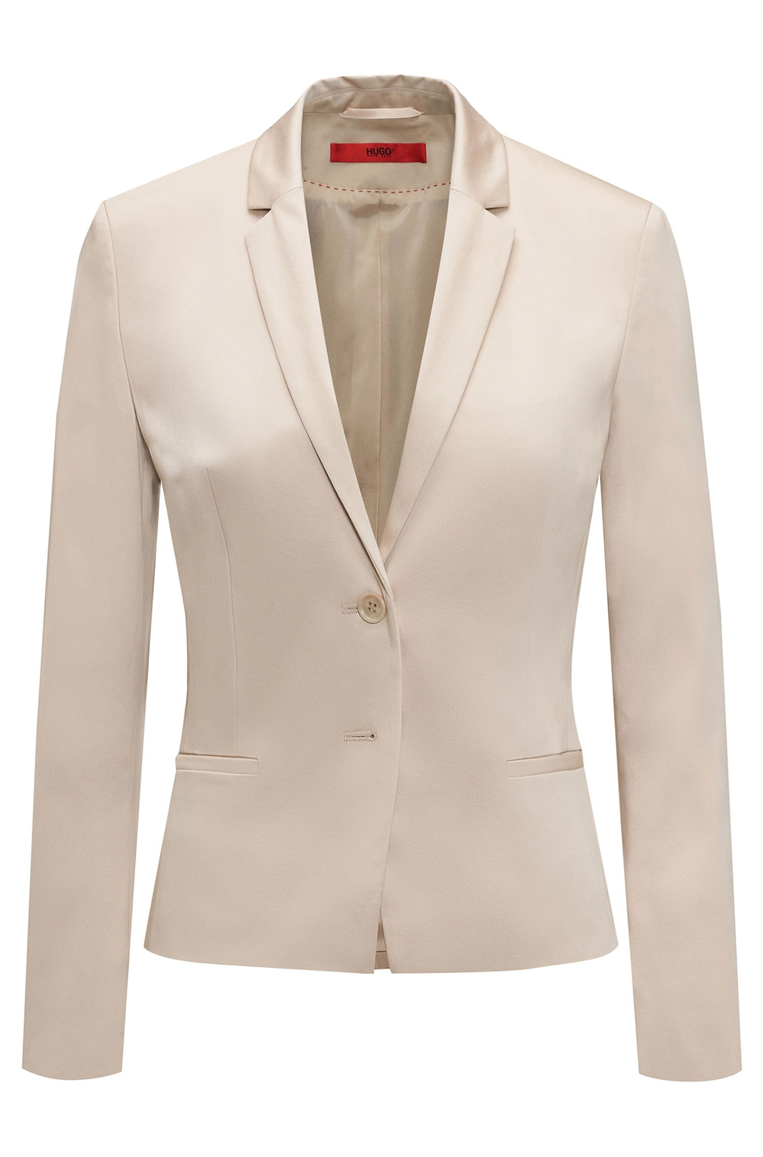 Fitted blazer in stretch cotton: 'Afrona'
