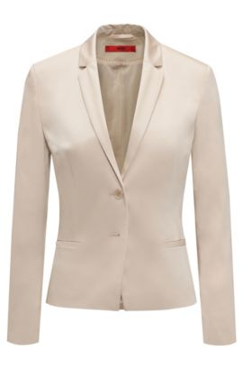 Fitted blazer in stretch cotton: 'Afrona', Beige