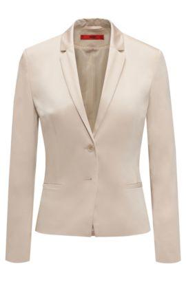 Taillierter Blazer aus Stretch-Baumwolle: 'Afrona', Beige