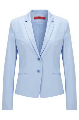 Taillierter Blazer aus Stretch-Baumwolle: 'Afrona', Hellblau