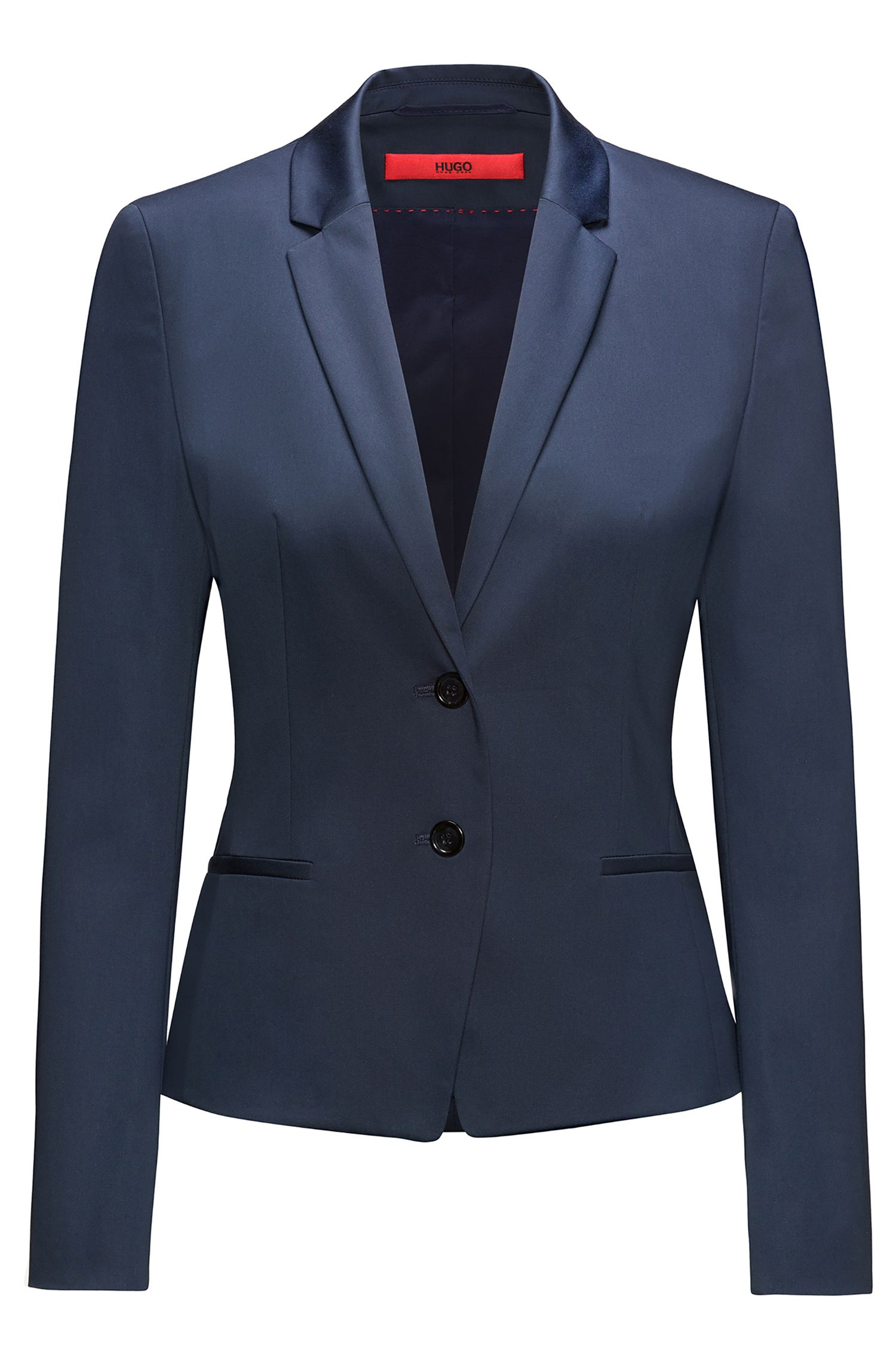 Blazer court Regular Fit en coton stretch