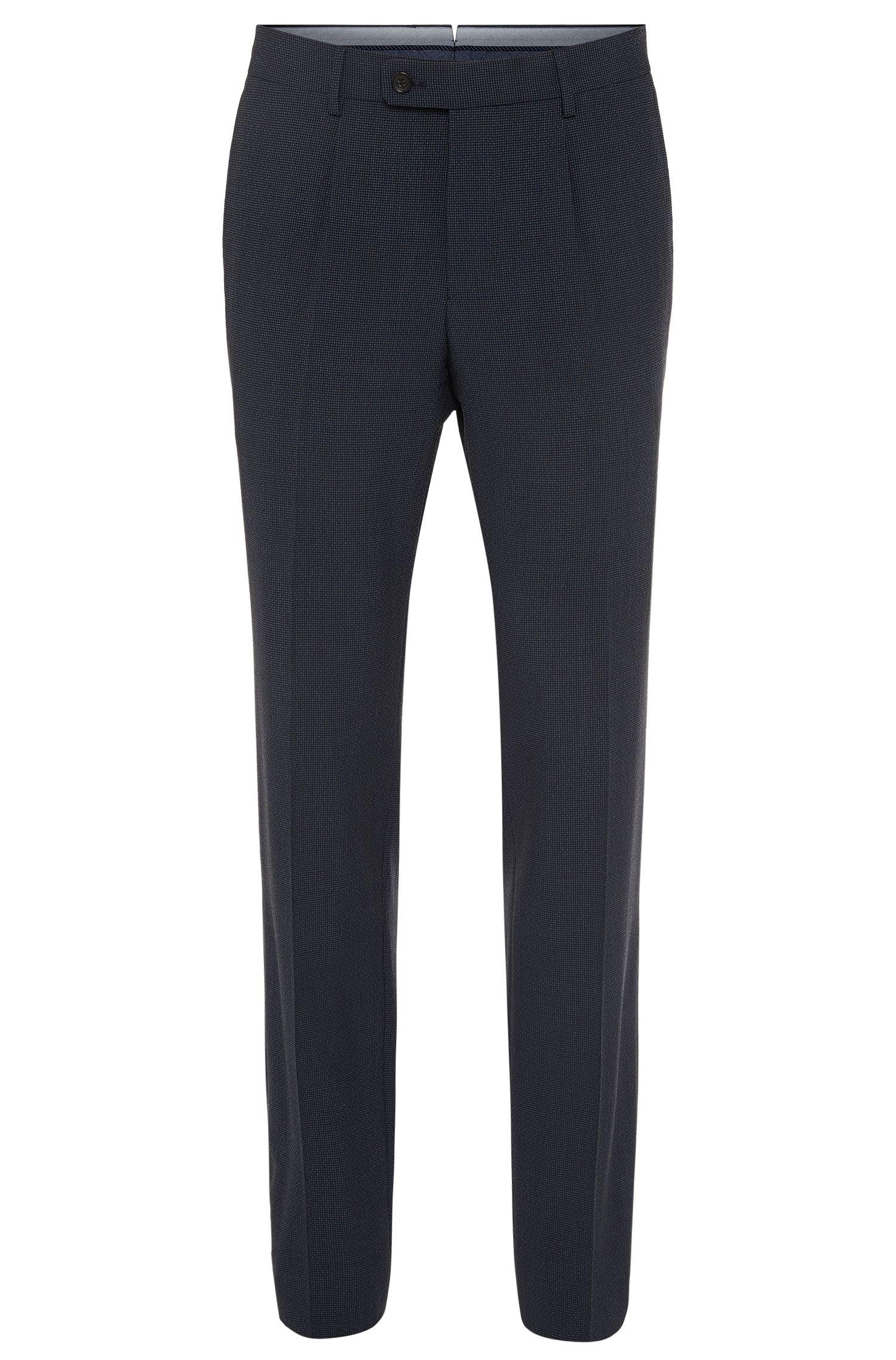Slim-fit broek van een elastische scheerwolmix met zijde: 'T-Gilroy'
