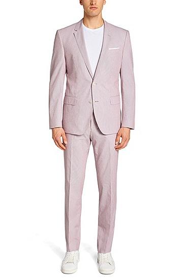 Slim-Fit Anzug aus Baumwoll-Mix: 'Hedson2/Gander1', Gemustert