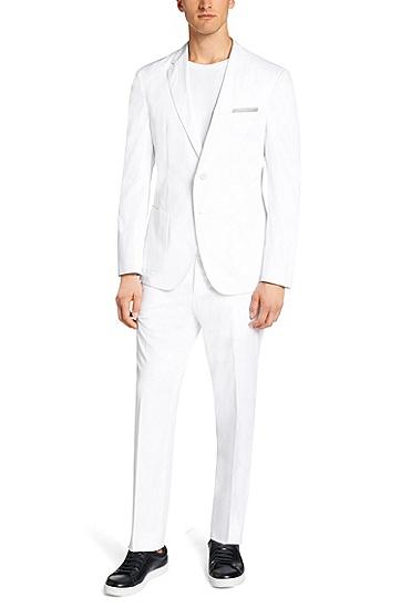 Extra Slim-Fit Anzug aus Baumwolle: 'Niclas/Barrister-T', Weiß