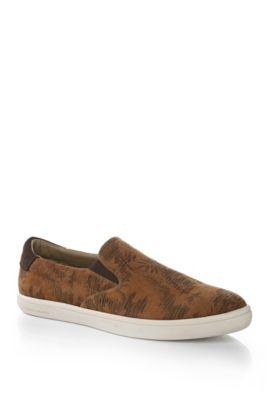 Gemusterte Slip-on Sneakers: ´Sovan`, Hellbeige