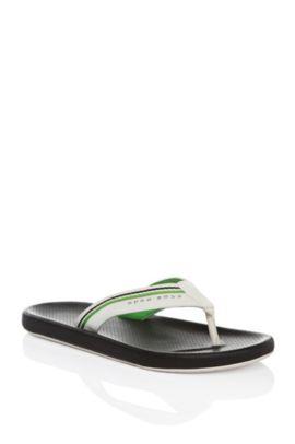 Sandalias de dedo con trabilla tejida: 'Shoreline Fresh', Negro