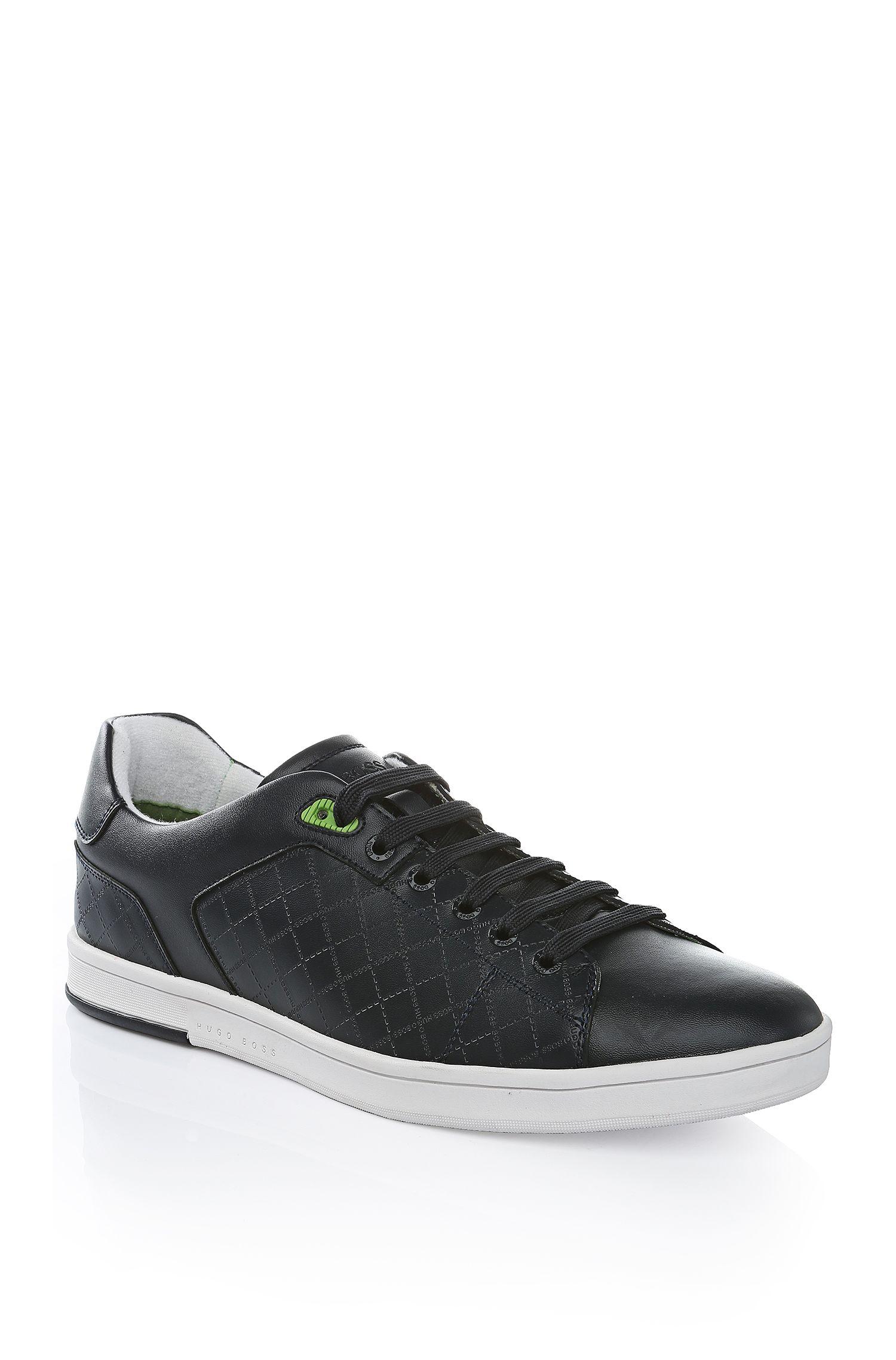 Geprägte Leder-Sneakers: ´Ray Check`