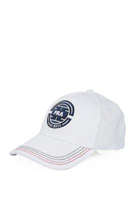Baseball cap with stitching: 'Cap Flag 2', Natural