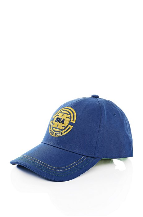 Baseball cap with stitching: 'Cap Flag 2', Dark Blue